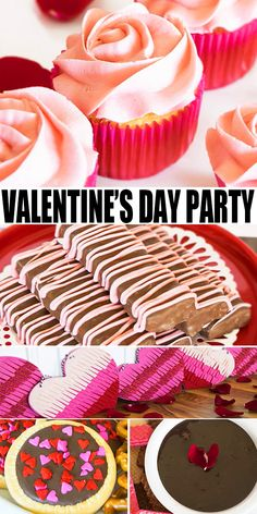 Learn how to set up this quick and easy Valentine's Day dessert table. It's a romantic way to surprise your partner with all of his/her favorite desserts. Pink Desserts, Valentines Day Desserts, Valentines Day Party, Sweet Desserts, Mocha Cheesecake, Low Carb Cheesecake, Sugar Free Chocolate, Melting Chocolate, Chocolate Art