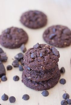 Dark Chocolate Oatmeal Cookies | by Design Eat Repeat