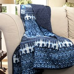 Special Edition by Lush Decor Lambert Tie Dye Fabric Throw Blanket