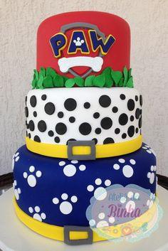 Bolo Cenografico Patrulha Canina Fake Isopor E Biscuit no Bolo Do Paw Patrol, Torta Paw Patrol, Zuma Paw Patrol, Paw Patrol Party, Bolo Fack, Paw Patrol Birthday Cake, Animal Cakes, Birthday Cake Decorating, Diy Cake