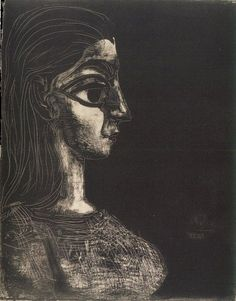 Pablo Picasso, 1958 Buste de profil III on ArtStack #pablo-picasso #art