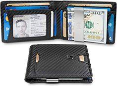 TRAVANDO Slim Wallet with Money Clip AUSTIN RFID Blocking Card Mini Bifold Men...... #menwallets #wallets