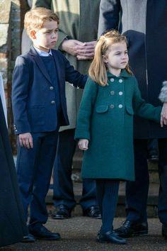 Prince George and Princess Charlotte make their royal Christmas walk debut alongside Prince William and Kate Middleton Prince George Alexander Louis, Prince William And Catherine, William Kate, Prince Charles, Catherine Walker, Prince William Kids, Princess Anne, Prince And Princess, Royal Prince