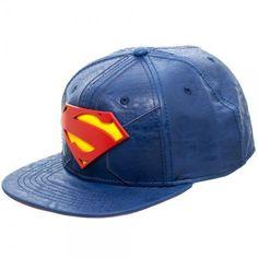 DC Comics Superman Logo Suit Up Faux Leather Snapback Cap Hat Justice League 3422d6f3af6a
