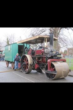 Our Fowler Roller Traction Engine with Living Wagon