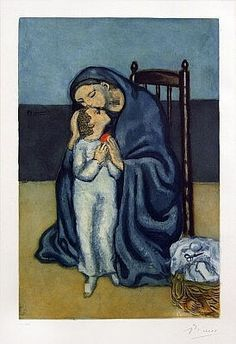 Maternity, 1930 is an original color aquatint and etching by Pablo Picasso. Available for sale at Masterworks Fine Art Gallery.