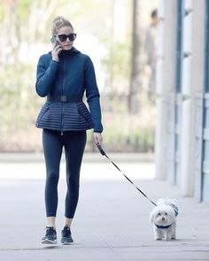 Olivia Palermo Walks Her Dog Out In New York The Olivia Palermo Lookbook