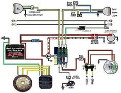 Trailer Wiring Diagram, Electrical Circuit Diagram, Motorcycle Wiring, Scrambler Motorcycle, Motorcycle Seats, Yamaha 650, Yamaha Bikes, Bike Repair Stand, Cafe Racer Parts