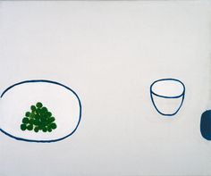 William Scott, Still Life, Grapes, 1976, Oil on canvas, 63 × 75.9 cm / 24¾ × 30 in, Private collection