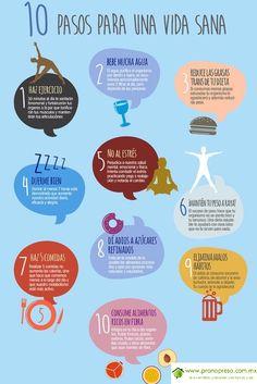 10 pasos para una vida sana.