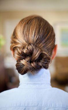 Clean knot via DryBar #WeddingHairstyle
