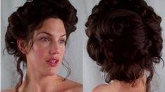 How to GIBSON girl Hair EDWARDIAN/ VICTORIAN vintage RETRO Hairstyle tutorial, via YouTube.
