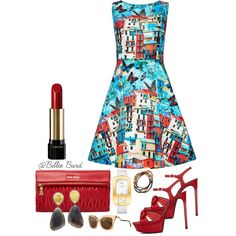 A fashion look from March 2015 featuring Alice + Olivia dresses, Yves Saint Laurent sandals and Miu Miu clutches. Browse and shop related looks.