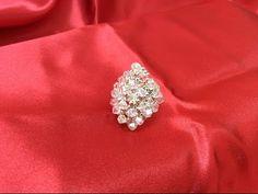 Tutorial paso a paso como hacer anillos con cristal Swarovsky - YouTube