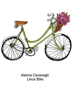 Linus Bike Copyright Alanna Cavanagh 2015 #illustration #bike #bicycle…