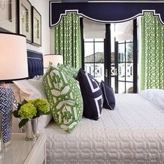 """91 Likes, 20 Comments - Audrey Graham Kennedy (@audreygrahamkennedy) on Instagram: """"Just loving this green Schumacher fabric from our Garza house.  #Schumacher"""""""