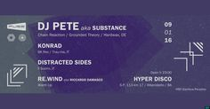 9.1 FUSE w/ Dj Pete aka SUBSTANCE [Chain Reaction/Grounded Theory/Hardwax] @Hyper Disco