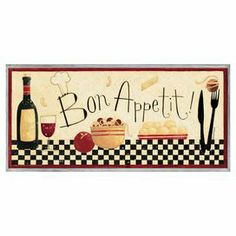 """A perfect finishing touch to your dining room or kitchen, this charming wall decor features a food-themed motif with a typographic accent.  Product: Wall decorConstruction Material: Engineered woodFeatures:  Hand-finished edgesReady to hangMade in the USA Dimensions: 7"""" H x 17"""" W x 0.5"""" D"""