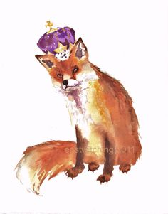 ROYAL FOX Art - Fine Art Print 8x10inches - KING of FOX Hollow $19