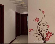 Big Neat flower--59inch high--Removable Wall decals floral Art Home Decors Murals wall Vinyl wall Decal Sticker