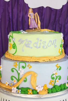 Pretty Tangled cake #cake #tangled