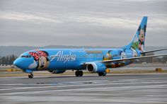 Seattle-based Alaska Airlines showed off its fifth Disney-themed airplane on Thursday. Commercial Plane, Commercial Aircraft, Airplane Painting, Walt Disney, Passenger Aircraft, Boeing Aircraft, Disney Planes, Alaska Airlines, Aircraft Painting