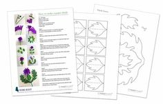Happythought paper thistle templates and instructions for a Burns Night decoration idea!