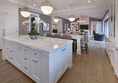 "Kitchen islands. Island Dimensions: 8'-8"" x 5'. Kitchen islands. #Kitchenislands Brandon Architects, Inc"