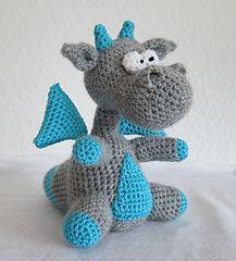 Grey and aqua dragon