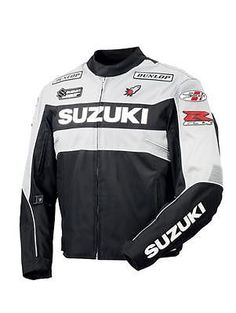 Custom Handmade Suzuki #Motorcyle Biker Leather Jacket #Handmade