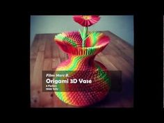 3D Origami Colorful Vase - YouTube