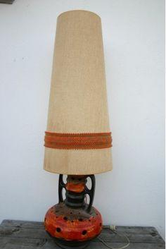 1960s-70s West German (Fat Lava) Ceramic Floor Lamp & Shade ...