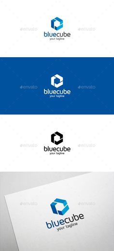 Blue Cube Logo — Vector EPS #web #cube • Available here → https://graphicriver.net/item/blue-cube-logo/6348141?ref=pxcr