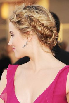 "Chic ballerina braid! You'd love to share your favourite ballerina braid looks on our separate board ""Hair Style""? Then follow us and comment this pin with ""ballerina braid"". #hair #style #ponytail #braid #ballerinabraid"