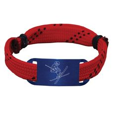 Skiing Lace Bracelet Skier Adjustable Sport Lace Bracelet -LE