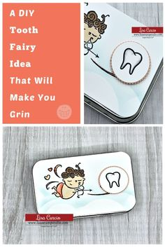 I've got a DIY tooth fairy idea that will make you grin! What a fun way to make the tooth fairy special. This is a great gift idea for that favorite child in your life and it's easy to make. Follow along with the video tutorial at www.lisasstampstudio.com #toothfairyideas #diytoothfairybox #craftideas #craftideastosell #craftfairitems #recycledcrafts #upcyclecrafts #lisacurcio #lisasstampstudio #stampinupprojects