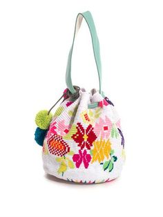 Sophie Anderson Nataly woven-cotton bucket bag