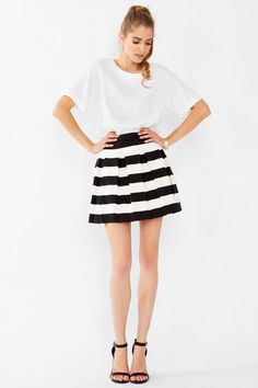 Statement Stripe Skirt