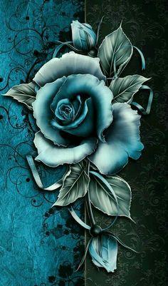 Pin by michelle sluder on pretty rose pics цветочное искусство, акварельная Blue Roses Wallpaper, Gothic Wallpaper, Flower Phone Wallpaper, Butterfly Wallpaper, Iphone Wallpaper, Beautiful Flowers Wallpapers, Pretty Wallpapers, Beautiful Roses, Dessin Animé Lolirock