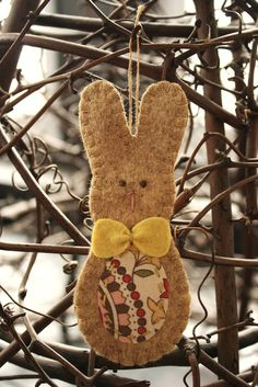 easter rabbit felt ornament - very cute