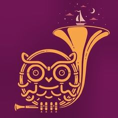 My two favorite things owls and the French horn:)