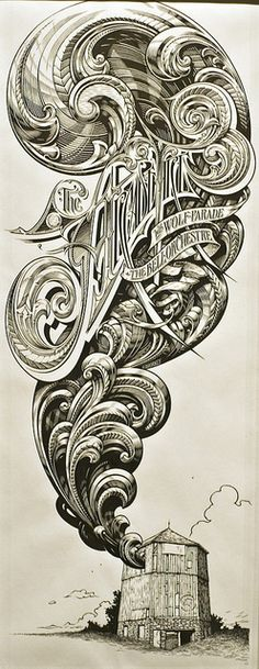 The Arcade Fire Drawing by Shrieking Tree, via Flickr