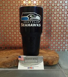 Get your own personalized Yeti tumbler, RTIC tumbler, yeti cup, RTIC cups. Seahawks yeti
