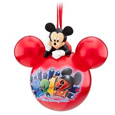 2012 Walt Disney World Mickey Mouse Icon Ornament, Red - Celebrate every year!, Item No. 7509002525001P, $16.95, 4 1/2'' H x 4 1/2'' W (at ears) x 3'' D