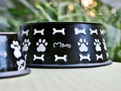 Dog Bowl Black