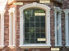 window design w 43 - Exterior Window Moulding Designs