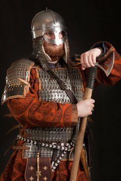 "Savelyeva Ekaterina""s work Viking Art, Viking Warrior, Vikings, Medieval Armor, Medieval Fantasy, Viking Images, Anglo Saxon History, Ottonian, Types Of Armor"