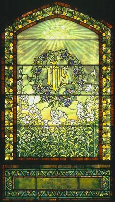 Tiffany Studios, Julia Henop memorial window, before 1900