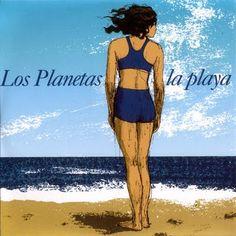 "CvA399. Los Planetas - ""La Playa"" 7"" by Javier Aramburu / RCA 1998 / #Albumcover Indie Pop, Art Music, Cover Art, Disney Characters, Fictional Characters, Disney Princess, Beaches, Spain, Rock Music"