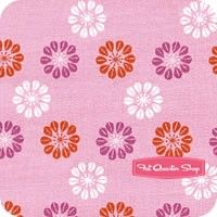 Mustang Orchid Pink Daisies Yardage, I have to add this because my daughter would just love this one!